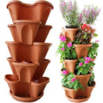 Nature's Distributing Stacking Planters - 5 Tier - with Patented Flow Grid System