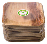 "Pure Palm Planet Friendly Plates; Upscale Disposable Dinnerware; All-Natural Compostable Plateware (7"" Square) (25 pack)"