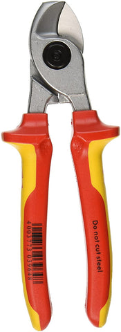 KNIPEX Tools - Cable Shears, Chrome, 1000V Insulated (9516165)