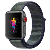 INTENY Sport Band for Apple Watch 38mm 42mm, Soft Lightweight Breathable Nylon Sport Loop Replacement Strap for iWatch Apple Watch Series 3, Series 2, Series 1, Hermes, Nike+, Edition