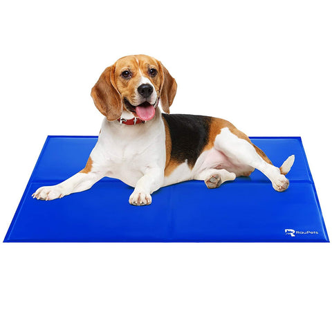 Comfortable Extra Large Cooling Mat for Dogs/Cats, Self Cooling Gel Mat, 38 x 32 Inches, Pressure Activated, Travel Indoor & Outdoor Pet Mat, Non-Toxic Dog Mat, Floor Bed Car Sofa Etc, Blue