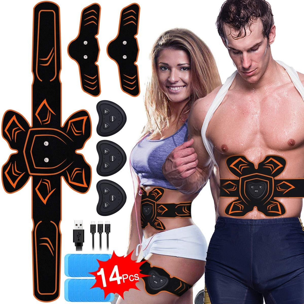 Sonew 10 Pieces Belt Gel Pads ABS replacement for EMS muscle stimulator