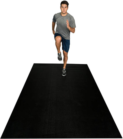 Square36 New 12 Ft x 6 Ft Extra Large Exercise Mat. Made in Germany - Highest Grade, Certified Non-Toxic. Designed for Use with Or Without Shoes. Ideal for Home Cardio, Aerobics, MMA, HIIT.