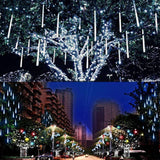 WEANAS Solar Powered Warm White Pumpkin Lights String, 20ft 30 LED Fairy String Lights, Halloween Christmas Decoration Lights(Warm White)
