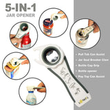 RINUZ Can and Jar Opener - Ergonomic Bottle Opener for Seniors, Elders and Arthritis Sufferers - Quick Opening for Cooking - Simple To Use - Easily Apply for Variety of Kitchen Cans and Bottles