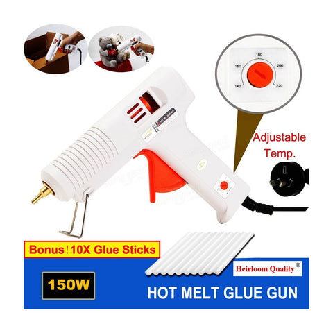 Healoom Quality 150 Watt Glue Gun with Adjustable Temperature Glue Gun + 40 Glue Sticks by Heirloom Quality