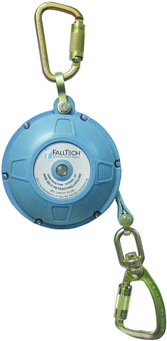 FallTech 7276WR Contractor/Dyneema Web SRL- Glass-Filled Nylon Housing, Dyneema Web, Connecting Carabiner, Load-Indicating Swivel Carabiner, 20', Blue