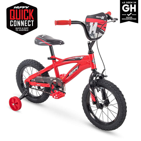 "Huffy Kid Bike Moto X, Fast Assembly Quick Connect, 12"", Gloss Red"