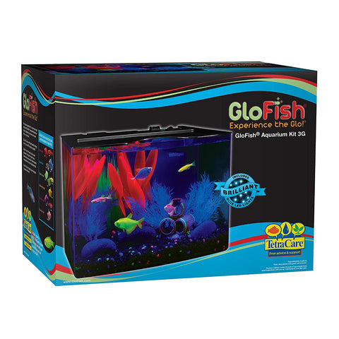 GloFish Aquarium Kit w/ Hood, LED Lights and Whisper Filter