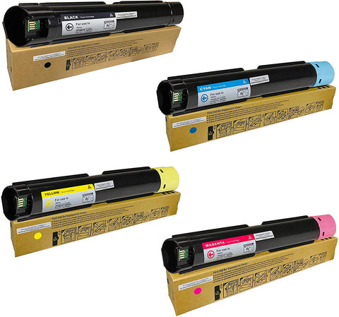 Toner Tap for Xerox Versalink C7000, C7000/DN, C7000/N Color Printer (4 Pack Bundle) - High Yield Compatible Toner Cartridge Set (OEM Part# 106R03757, 106R03758, 106R03759, 106R03760)