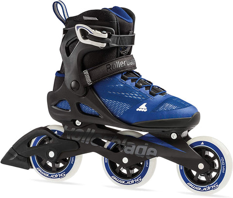 Rollerblade Macroblade 100 3WD Womens Adult Fitness Inline Skate, Violet Blue and Cool Grey, Performance Inline Skates