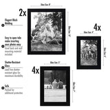 Americanflat 10-Piece Multi Pack; Includes 8x10, 5x7, and 4x6 Frames, Gallery Set, Black