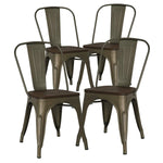 Poly and Bark Trattoria Side Chair in Black (Set of 4)