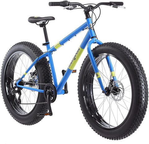 Mongoose Dolomite Fat Tire Mens Mountain Bike,17-Inch/Medium High-Tensile Steel Frame, 7-Speed, 26-inch Wheels
