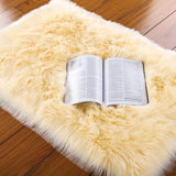 PAGISOFE Soft Faux Sheepskin Fluffy Rugs for Bedroom Kids Room, High Pile Faux Fur Area Rug Bedside Floor Carpet Photography, 3x5 Feet Rectangular Grey