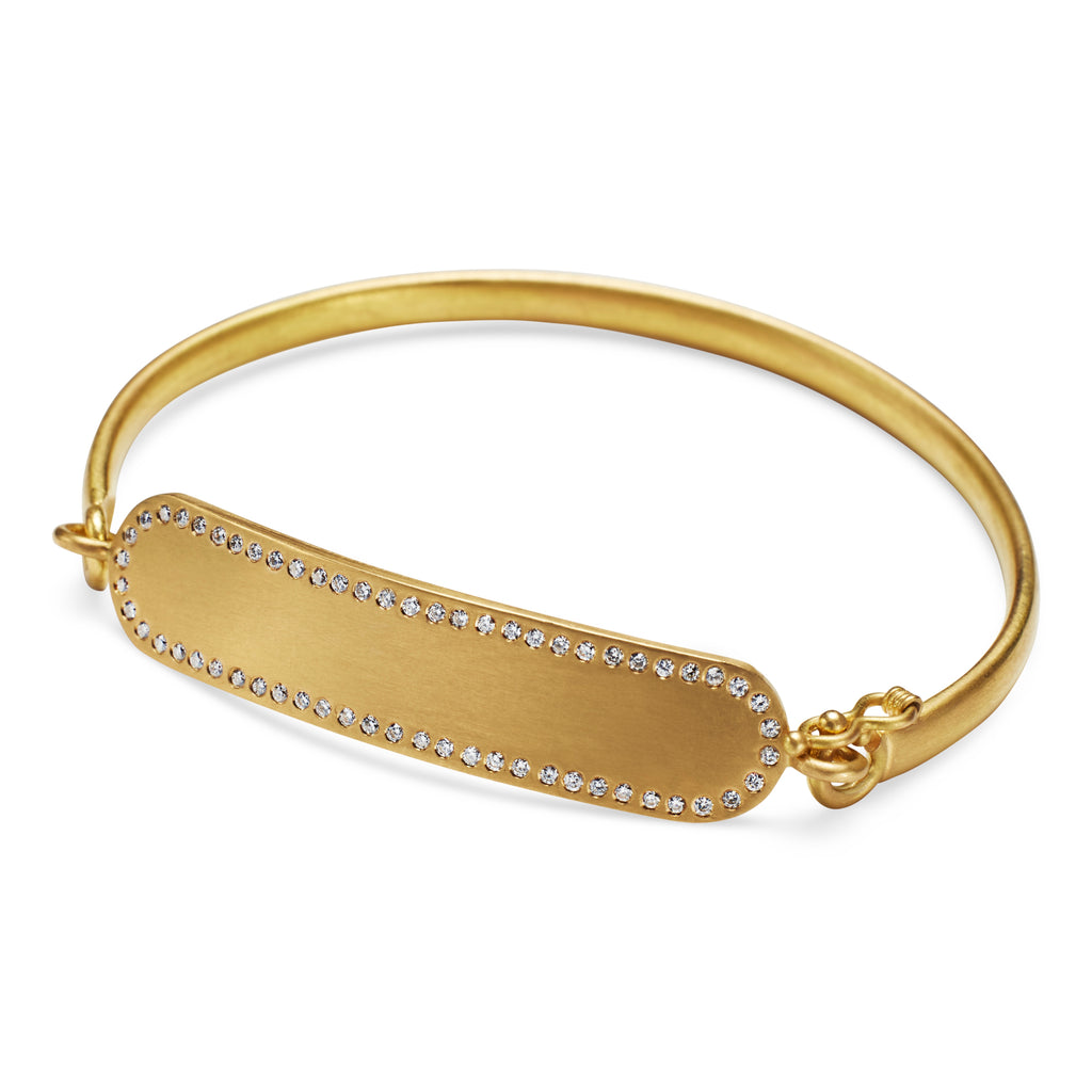 ID Bracelet with Diamonds