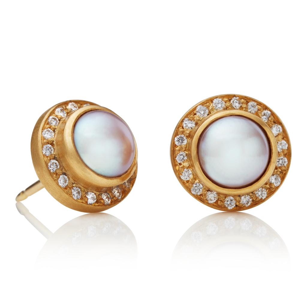 Sahara Studs with Pearls