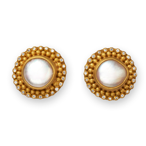 Classic with Baroque Pearl with Diamonds