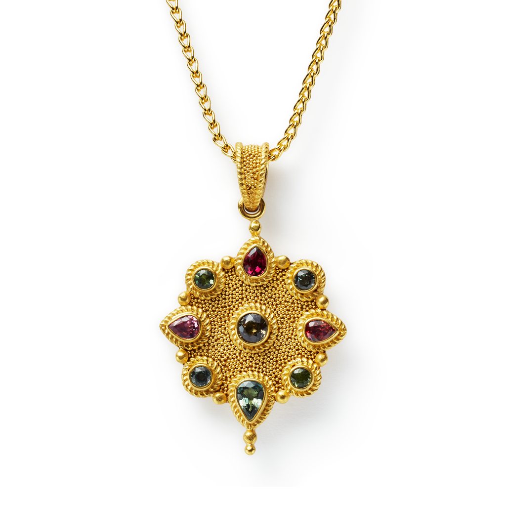 Mumtaz Pendant with Sapphires