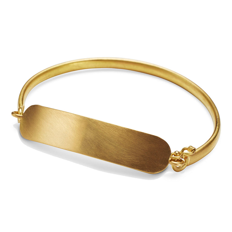 ID Bracelet in 20K Peach Gold