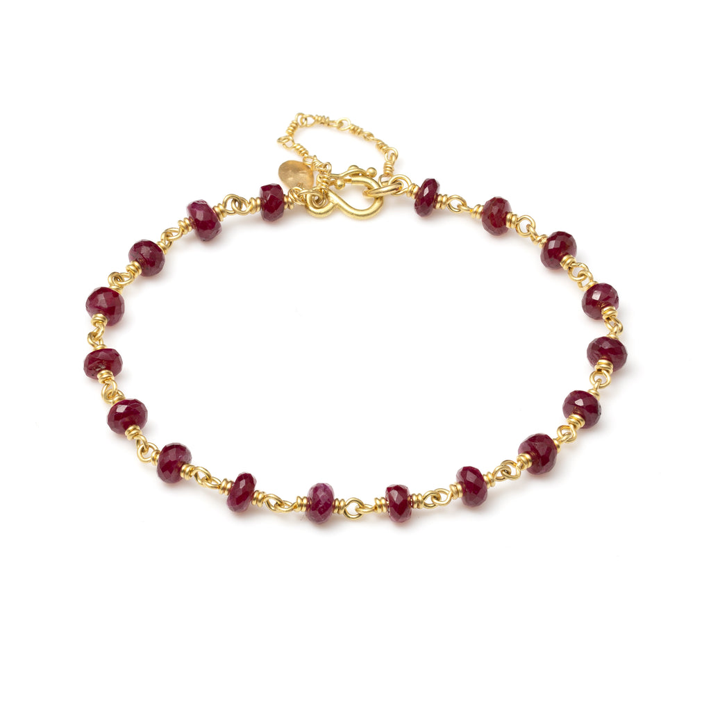 Isabella Bracelet with Rubies
