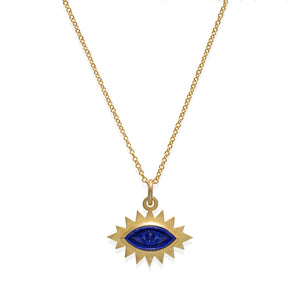 Greek Eye Carved Necklace
