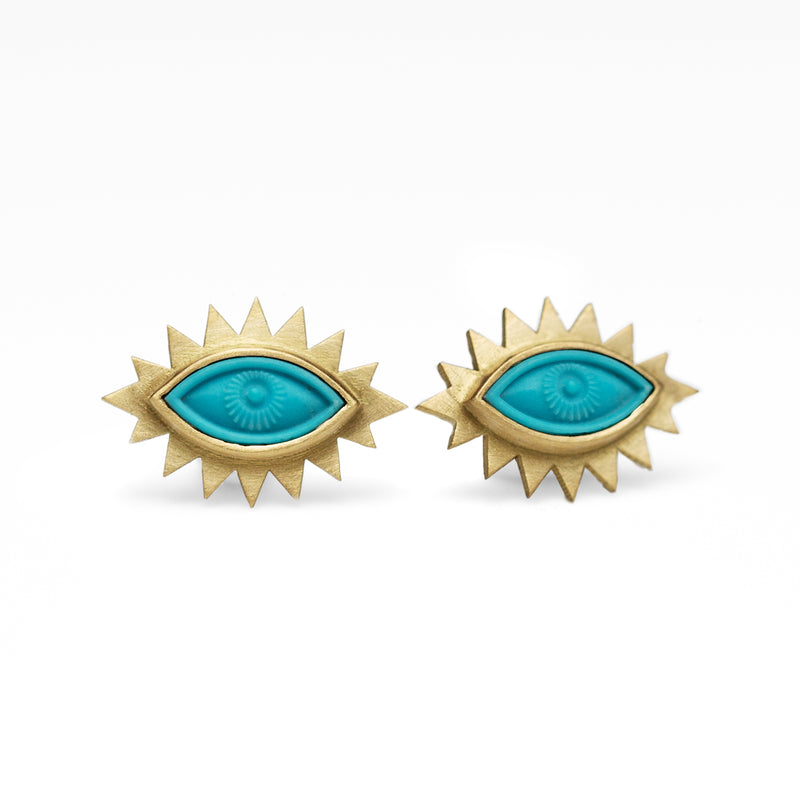 Greek Eye Carved Studs