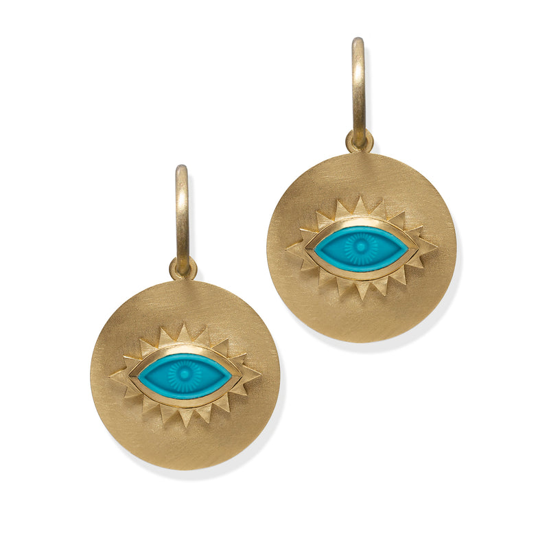 Greek Eye Disc Earrings