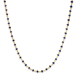 Isabella Necklace with Smooth, Blue Sapphires