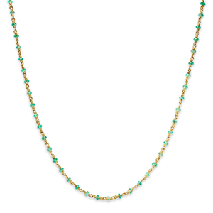 Isabella Necklace with Faceted Emeralds