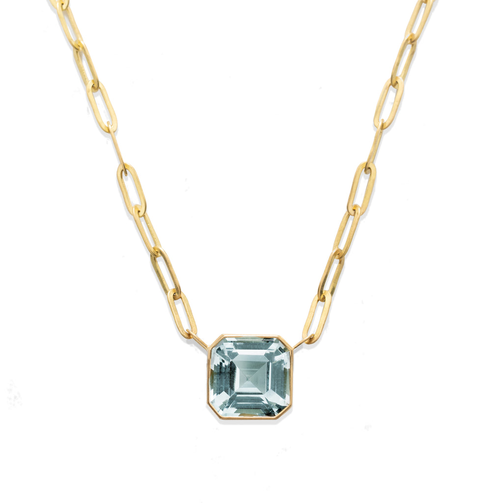 Blue Topaz Johnny Pendant