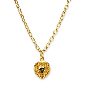 Cognac Diamond Heart Pendant