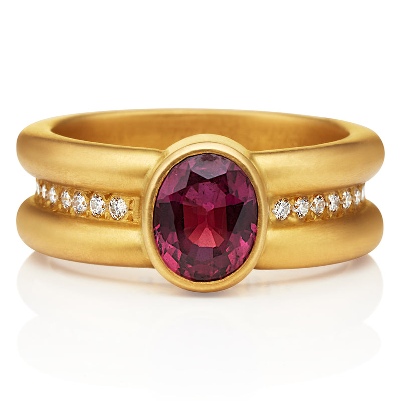 Shimmer Ruby Ring in 20KPG