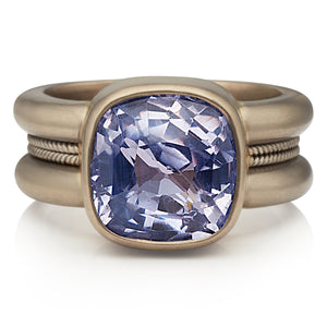 New Braid Ring with Sapphire