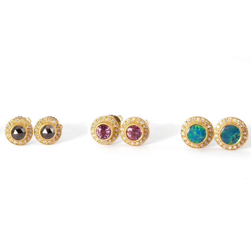 Opal Sahara Earrings with Diamonds