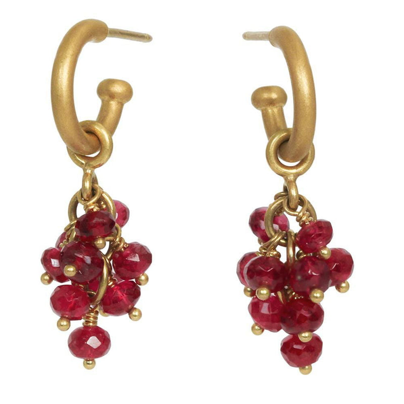 Baby Hoops with Spinel Bacchus Drops