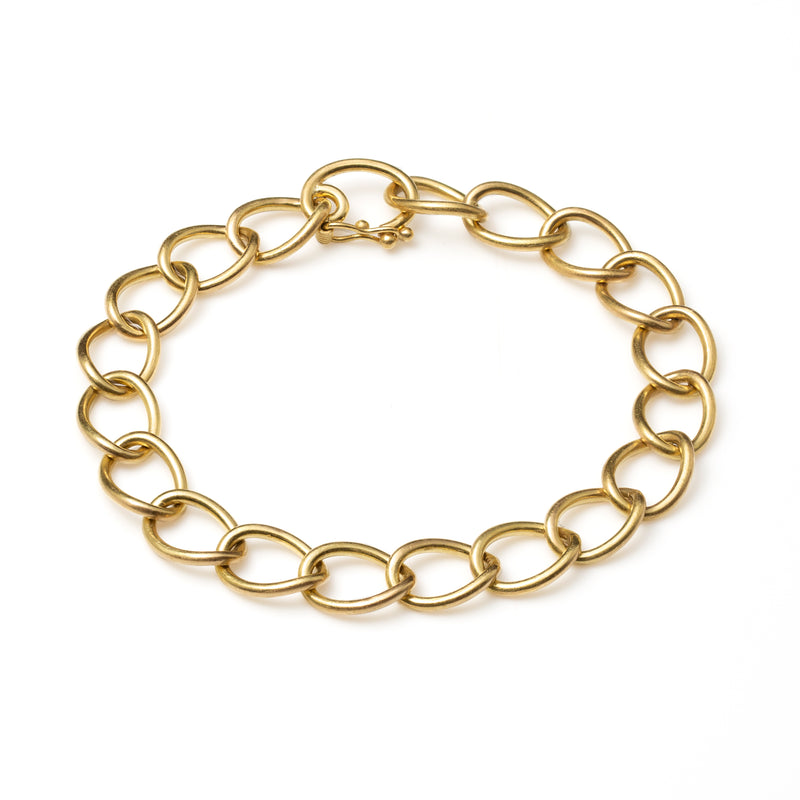 Curbed Link Chain Bracelet