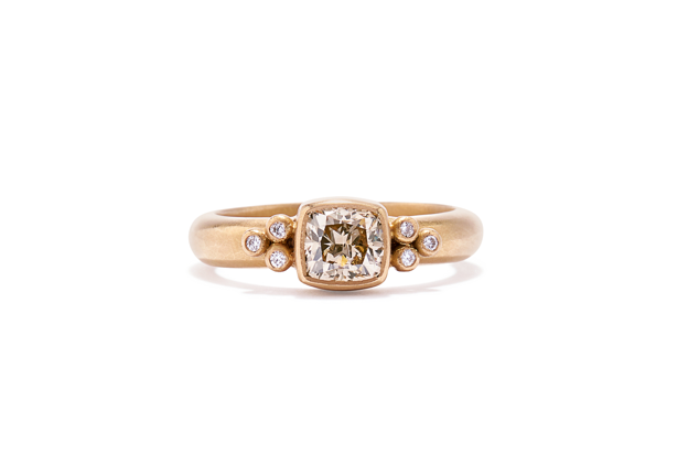 Tania Cushion Cut Diamond Ring
