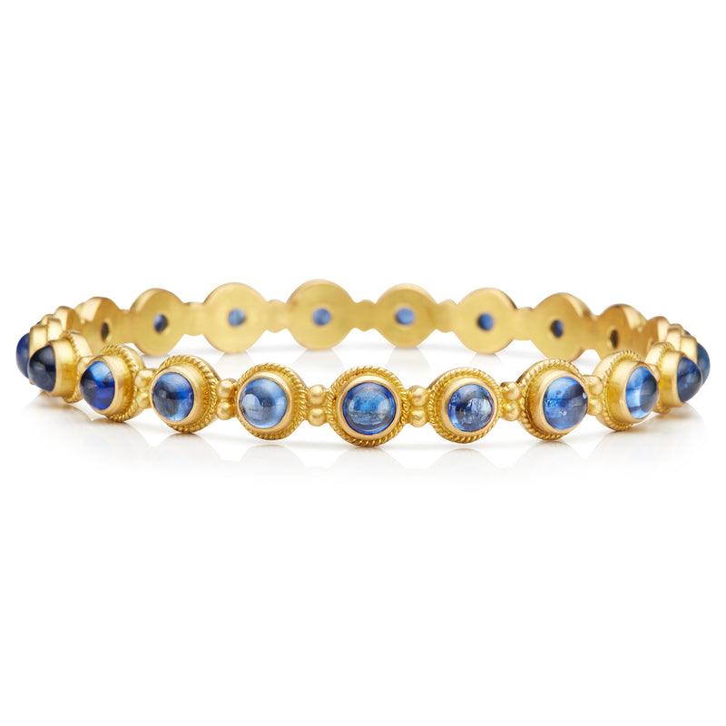 Garland Renaissance Bangle with Blue Sapphires
