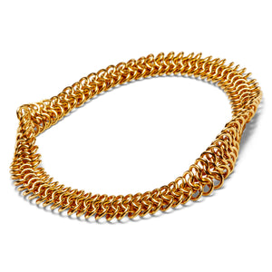 Guinevere Bracelet with 3 Rows of Links in 22KYG
