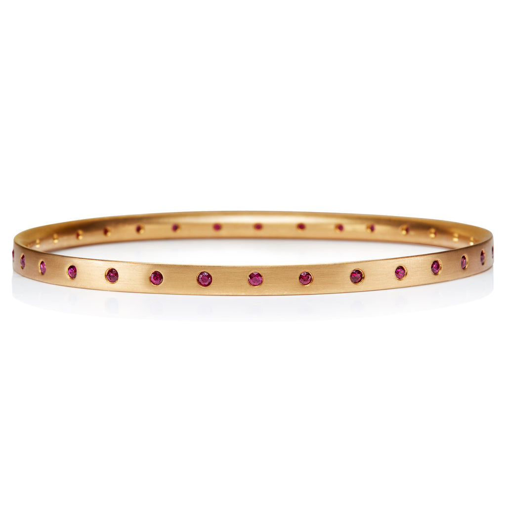 Mosaic Ruby Bangle in 22KAG