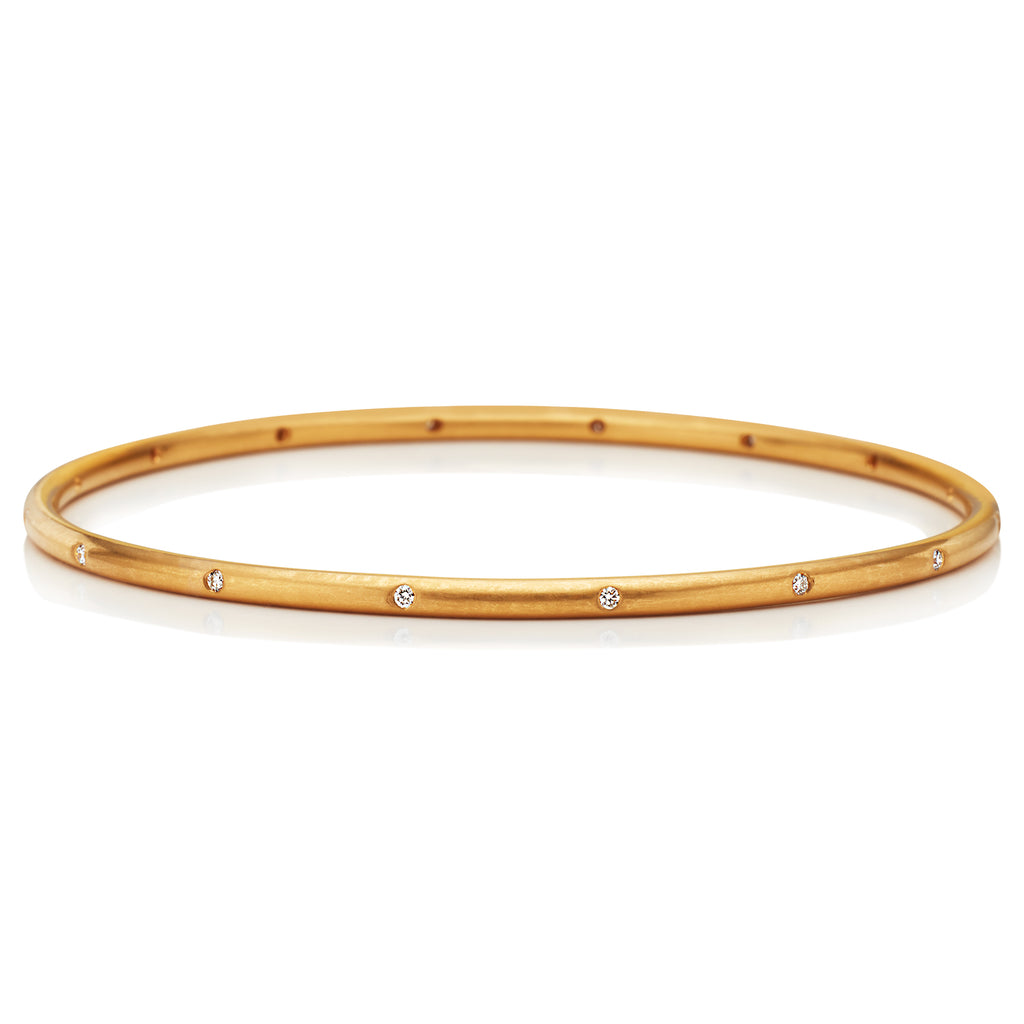 Hoopstock Bangle with Diamonds