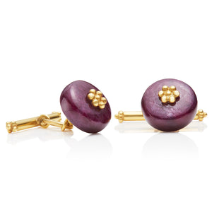 Ruby Tassel Cufflinks