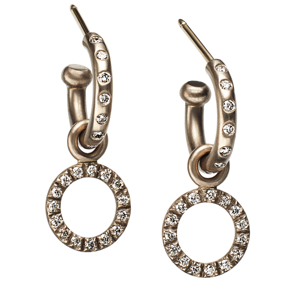 Diamond Hoops with Tiny Diamond Loops