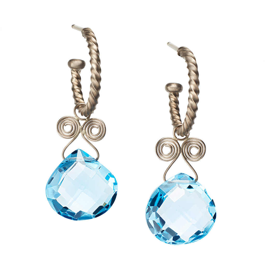 Blue Topaz Angel Drops