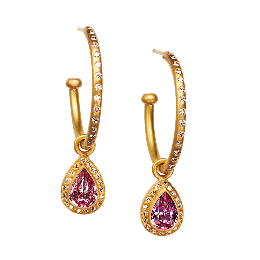 Sahara Drops with Pink Sapphires