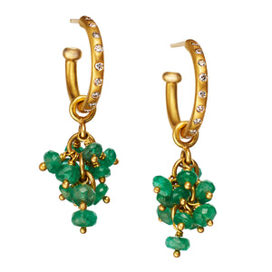 Smooth Chrysoprase Bacchus Drops