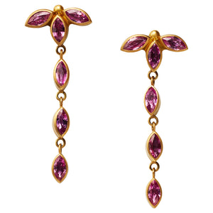 Wisteria Earrings with Pink Spinel