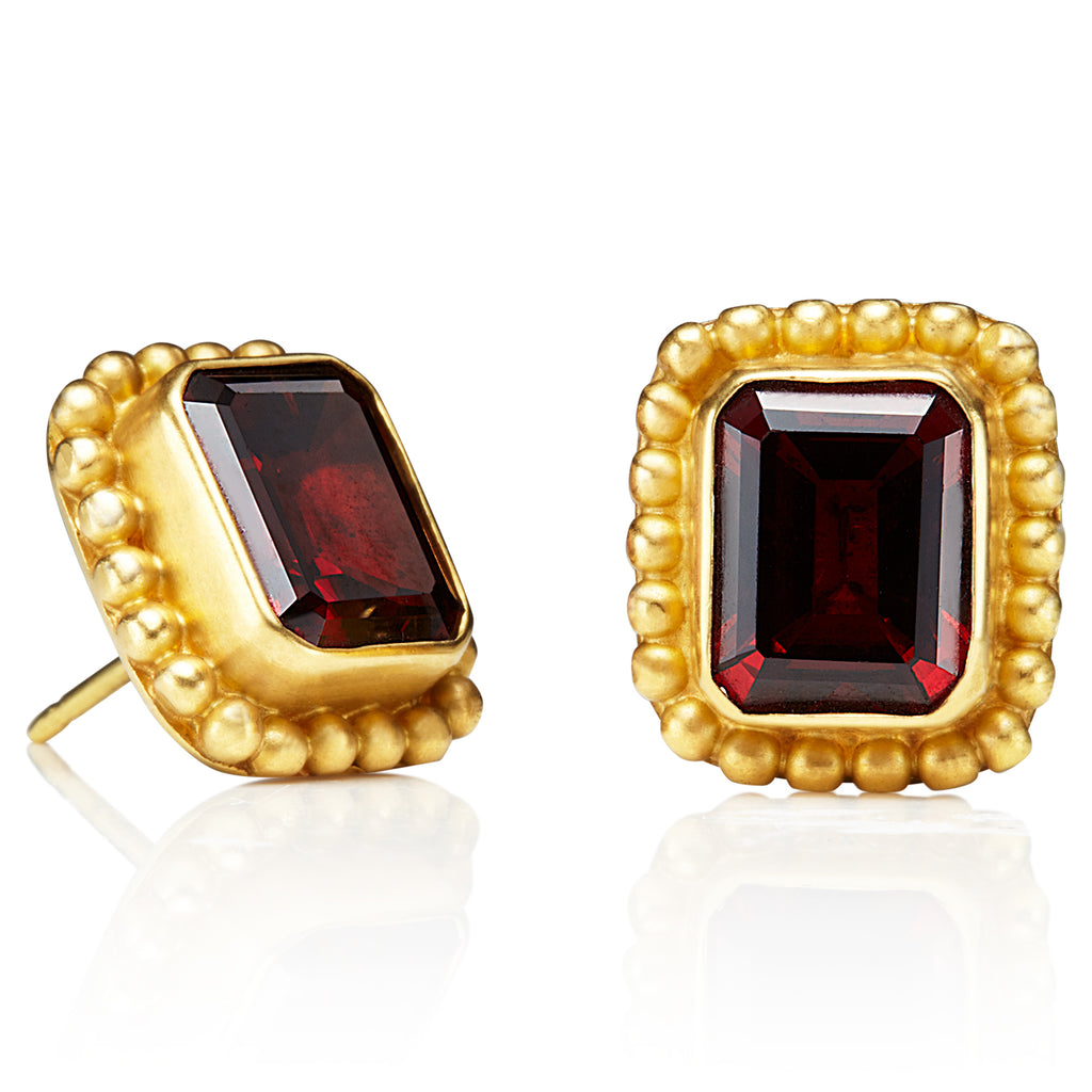 Garnet Classic Earrings
