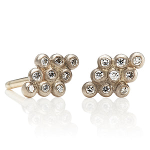 Kite Studs with diamonds, large
